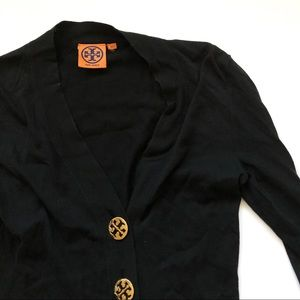 Tory Burch Black Button Cardigan - size xxs